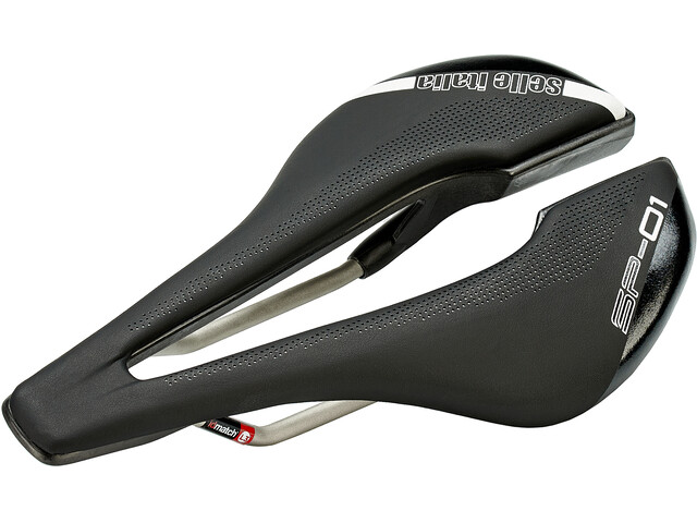Selle Italia SP-01 Boost Ti316 Superflow Saddle, negro